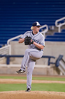 AZL Padres 2 relief pitcher Tom Colletti (52) delivers a pitch to the plate against the AZL Brewers on September 2, 2017 at Maryvale Baseball Park in Phoenix, Arizona. AZL Brewers defeated the AZL Padres 2 2-0. (Zachary Lucy/Four Seam Images)