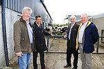 IFA President Eddie Downey and French farmers association president visit to Diarmuid Lally's dairy farm in Bective, Co Meath<br /> Picture www.newsfile.ie