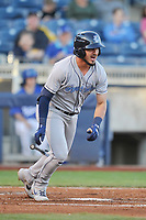 Corpus Christi Hooks first baseman Josh Rojas (2) swings at a pitch against the Tulsa Drillers at Oneok Stadium on May 4, 2019 in Tulsa, Oklahoma.  The Hooks won 9-7.  (Dennis Hubbard/Four Seam Images)