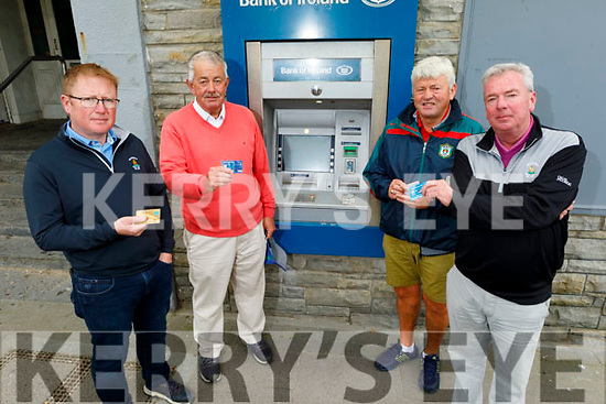 Ballybunion businesses disappointed that the Bank of Ireland branch in Ballybunion is closing from Monday September 28th.<br /> L to r: Greg Ryan, Cllr Robert Beasley, John Dee and Padraig Hanrahan.