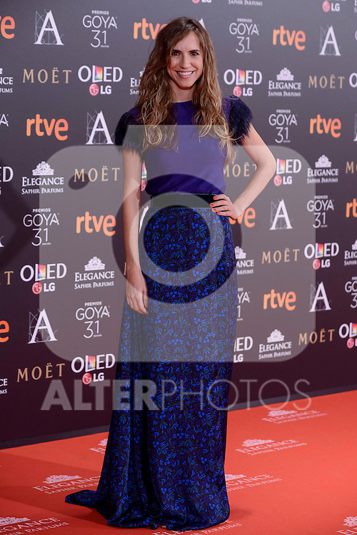 Aida Clotet attends to the Red Carpet of the Goya Awards 2017 at Madrid Marriott Auditorium Hotel in Madrid, Spain. February 04, 2017. (ALTERPHOTOS/BorjaB.Hojas)