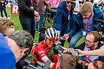 Jasper STUYVEN from Belgium of Trek-Segafredo finishing 5th after the 2018 Paris-Roubaix race, Velodrome Roubaix, France, 8 April 2018, Photo by Thomas van Bracht / PelotonPhotos.com | All photos usage must carry mandatory copyright credit (Peloton Photos | Thomas van Bracht)