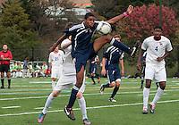 HYATTSVILLE, MD - OCTOBER 26, 2012:  Azaan Wilbon (15) of St. Albans during a match against DeMatha at Heurich Field in Hyattsville, MD. on October 26. DeMatha won 2-0.
