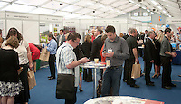 Delegates emailing and texting, Kent2020Vision show, County Showground, Kent.