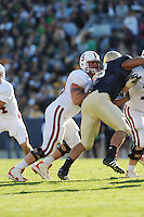 South Bend, IN - OCTOBER 4:  Offensive tackle Chris Marinelli #63 of the Stanford Cardinal during Stanford's 28-21 loss against the Notre Dame Fighting Irish on October 4, 2008 at Notre Dame Stadium in South Bend, Indiana.