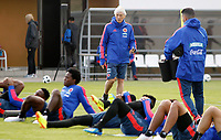 KAZAN - RUSIA, 15-06-2018: Jose Pekerman técnico de Colombia, durante entrenamiento como parte de la Copa Mundo FIFA 2018 Rusia. /  Jose Pekerman coach of Colombia during training session in Kazan  as part of the 2018 FIFA World Cup Russia. Photo: VizzorImage / Julian Medina / Cont