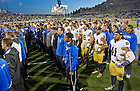 Oct. 26, 2013; Air Force sings their Alma Mater after losing to Notre Dame 45-10.