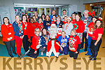 The staff of University Hospital Kerry supporting the Christmas Jumper appeal day in support of the St Vincent de Paul charity on Friday. Front kneeling l to r: Aileen Mahoney, Fiona Barrett, Santa Claus, Cathy O'Shea and Deirdre Lyons.