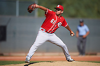 Cincinnati Reds pitcher Jesse Adams (61) during an Instructional League game against the Texas Rangers on October 4, 2016 at the Surprise Stadium Complex in Surprise, Arizona.  (Mike Janes/Four Seam Images)