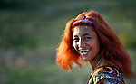 A girl in the largely Roma neighborhood of Gorno Ezerovo, part of the Bulgarian city of Burgas. Residents here don't self-identify much as Roma, because of the negative connotations associated with the word, so many refer to themselves as a Turkish-speaking minority.