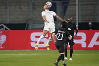 Victor Palsson (Island Iceland) gegen Ilkay Guendogan (Deutschland Germany) - 25.03.2021: WM-Qualifikationsspiel Deutschland gegen Island, Schauinsland Arena Duisburg