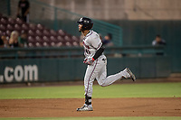 Lancaster JetHawks Luis Castro (41) rounds the bases after hitting a home run during a California League game against the Lake Elsinore Storm on September 2, 2019 at The Diamond in Lake Elsinore, California. Lake Elsinore defeated Lancaster 4-3. (Zachary Lucy/Four Seam Images)