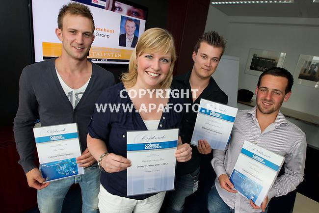 Den Haag, 270612<br /> Ingeborg van den Ban, Cobouwtalent 2012 met de drie andere deelnemers.<br /> Foto: Sjef Prins - APA Foto