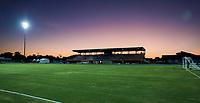 GEORGETOWN, GRAND CAYMAN, CAYMAN ISLANDS - NOVEMBER 19: Truman Bodden Sports Complex at sunset during a game between Cuba and USMNT at Truman Bodden Sports Complex on November 19, 2019 in Georgetown, Grand Cayman.