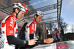 Tiesj Benoot (BEL) Lotto-Soudal at sign on in Fortezza Medicea before the start of Strade Bianche 2019 running 184km from Siena to Siena, held over the white gravel roads of Tuscany, Italy. 9th March 2019.<br /> Picture: LaPresse/Gian Matteo D'Alberto   Cyclefile<br /> <br /> <br /> All photos usage must carry mandatory copyright credit (© Cyclefile   LaPresse/Gian Matteo D'Alberto)