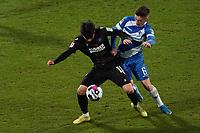 Kyoung-Rok Choi (Karlsruher SC) gegen Marvin Mehlem (SV Darmstadt 98)<br /> <br /> - 26.02.2021 Fussball 2. Bundesliga, Saison 20/21, Spieltag 23, SV Darmstadt 98 - Karlsruher SC, Stadion am Boellenfalltor, emonline, emspor, <br /> <br /> Foto: Marc Schueler/Sportpics.de<br /> Nur für journalistische Zwecke. Only for editorial use. (DFL/DFB REGULATIONS PROHIBIT ANY USE OF PHOTOGRAPHS as IMAGE SEQUENCES and/or QUASI-VIDEO)