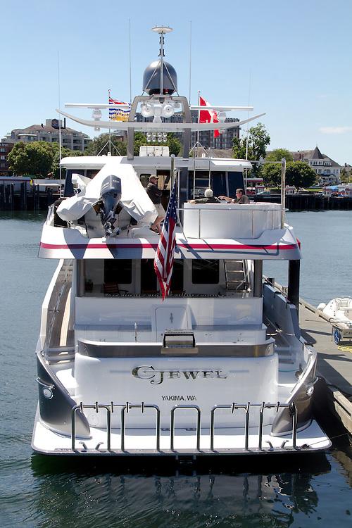 Victoria, British Columbia, Canada, Vancouver Island, Inner harbor, yacht, C-Jewel,