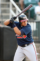 July 2, 2009: Mississippi Braves DH Kala Ka'aihue (20) at Pringles Park in Jackson, TN. The Mississippi Braves are the Southern League AA affiliate of the Atlanta Braves. Photo by: Chris Proctor/Four Seam Images