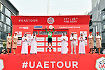 Caleb Ewan (AUS) Lotto-Soudal retains the Green Jersey at the end of Stage 4 the Emirates NBD Stage of the UAE Tour 2020 running 173km from Dubai Zabeel Park to Dubai City Walk, Dubai. 26th February 2020.<br /> Picture: LaPresse/Massimo Paolone | Cyclefile<br /> <br /> All photos usage must carry mandatory copyright credit (© Cyclefile | LaPresse/Massimo Paolone)
