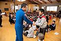 Astronaut Satoshi Furukawa visits Elementary School in Natori City, Miyagi