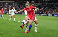 Saint Paul, MN - SEPTEMBER 03: Kristen Hamilton #25 of the United States during their 2019 Victory Tour match versus Portugal at Allianz Field, on September 03, 2019 in Saint Paul, Minnesota.
