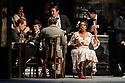 "London, UK. 24.11.2018. English National Opera present their fourth revival of Jonathan Miller's production of Puccini's ""La Boheme"", in which Natalya Romaniw makes her ENO debut. Cast is: Natalya Romaniw (Mimi), Jonathan Tetelman (Rodolfo), Nicholas Lester (Marcello), Simon Butteriss (Benoit/Alcindoro), Nadine Benjamin (Musetta), David Soar (Colline), Bozidar Smiljanic (Schaunard). Picture shows: Nadine Benjamin (Musetta). Photograph © Jane Hobson."