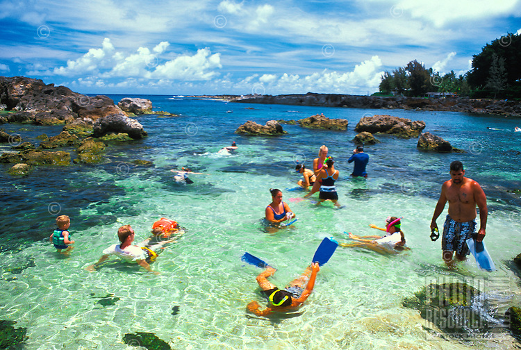 Pupukea Beach Park (also know as Shark's Cove) is a favorite spot for snorkelers and  scuba divers to see a wide variety of Hawaii's colorful marine life. It is a Marine Life Conservation area located on the north shore of Oahu.