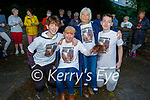 Sharon Roche with her family after her fundraising hair cut the Open Arms Kerry fundraiser in Pearse Park in Tralee on Friday for the World Suicide Awareness Day. L to rL Joshua and Sharon Roche, Philomena Duggan and James Roche