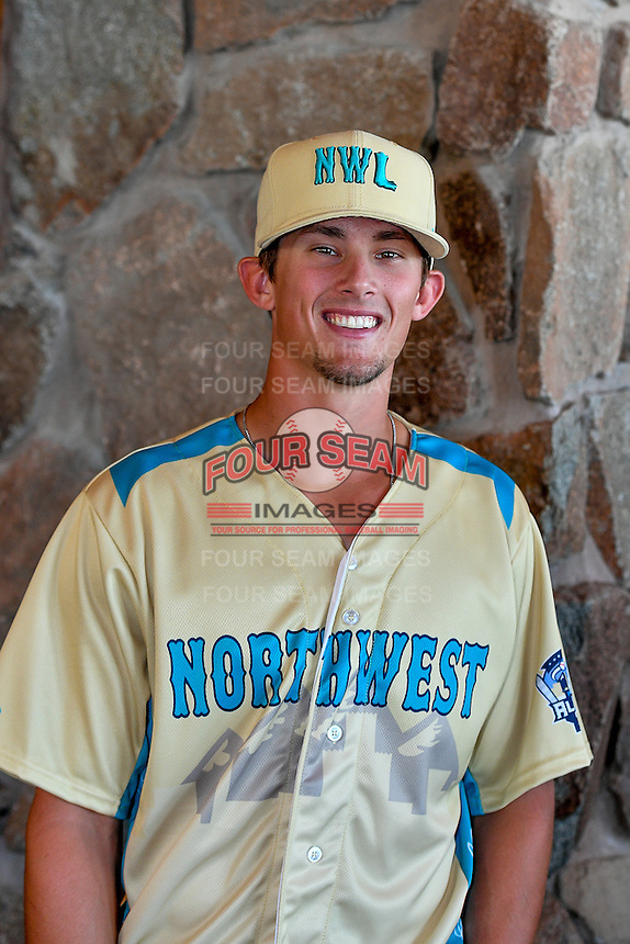 Cavan Biggio (4) of the Vancouver Canadians and the Northwest League All-Stars poses for a photo during activities before the 2nd Annual Northwest League-Pioneer League All-Star Game at Snowbasin Resort on August 1, 2016 in Ogden, Utah. (Stephen Smith/Four Seam Images)