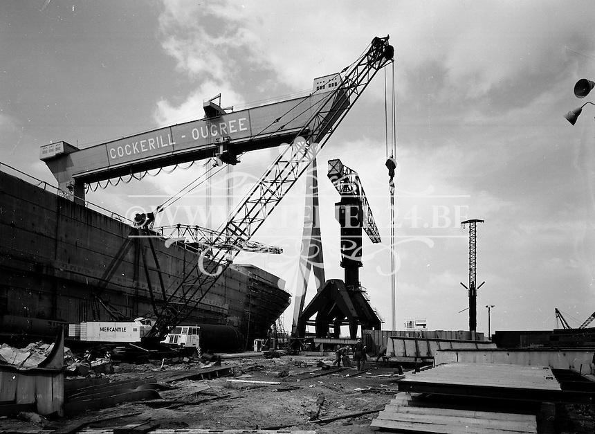 Juli 1964.  Cockerill Ougree scheepswerf.