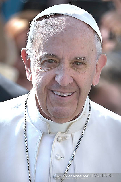 Pope Francis during of a weekly general audience at St Peter's square in Vatican. May 17, 2017
