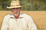 Heritage Days Festival. Union County. Colonial farmer man with hat.