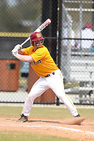 Seton Hill Griffins Brendan Costantino #1 during a game vs. Slippery Rock at Lake Myrtle Field in Auburndale, Florida;  March 5, 2011.  Seton Hill defeated Slippery Rock 14-1.  Photo By Mike Janes/Four Seam Images