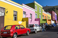 South Africa, Cape Town, Bo-kaap.  Colorful Houses.