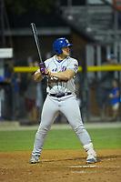Gavin Garay (47) of the Kingsport Mets at bat against the Burlington Royals at Burlington Athletic Stadium on July 27, 2018 in Burlington, North Carolina. The Mets defeated the Royals 8-0.  (Brian Westerholt/Four Seam Images)