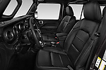Front seat view of a 2019 Jeep Wrangler Unlimited Sahara 5 Door SUV front seat car photos