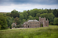 The castellated facade of Kentchurch Court under Garaway Hill in Herefordshire