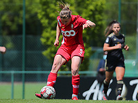 Aster Janssens (5) of Standard  in action during a female soccer game between Standard Femina de Liege and Oud Heverlee Leuven on the 10th and last matchday in play off 1 of the 2020 - 2021 season of Belgian Scooore Womens Super League , saturday 29 th of May 2021  in Angleur , Belgium . PHOTO SPORTPIX.BE   SPP   SEVIL OKTEM