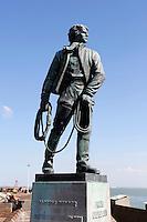 Standbeeld voor Frans Naerebout  op de Boulevard in Vlissingen. Frans Naerebout leefde van  1748  tot 1818 en was een redder van schipbreukelingen