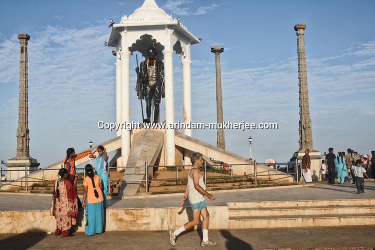 A statue of Mahatma Gandhi at the Goubert Avenue in Pondicherry. Arindam Mukherjee.
