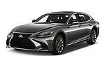 2018 Lexus LS President 4wd 4 Door Sedan angular front stock photos of front three quarter view