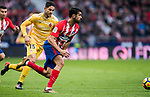 Diego Costa (R) of Atletico de Madrid is followed by Juan Pedro Ramirez Lopez, Juanpe, of Girona FC during the La Liga 2017-18 match between Atletico de Madrid and Girona FC at Wanda Metropolitano on 20 January 2018 in Madrid, Spain. Photo by Diego Gonzalez / Power Sport Images