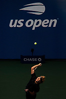 8th September 2021; New York, USA;  Alexander Zverev of Germany serves during the men s singles quarterfinals of the 2021 US Open against Lloyd Harris of South Africa in New York, the United States on Sept. 8, 2021. Photo by /Xinhua SPU.S.-NEW YORK-TENNIS-US OPEN-DAY 10-QUARTERFINAL-MEN S SINGLES MichaelxNagle