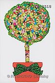 Interlitho, Soledad, CHRISTMAS CHILDREN, naive, paintings, tree of children(KL3518,#XK#) Weihnachten, Navidad, illustrations, pinturas