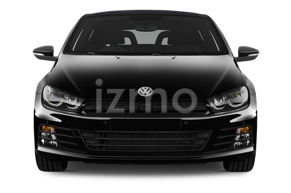 Car photography straight front view of a 2015 Volkswagen SCIROCCO R 3 Door Hatchback 2WD Front View
