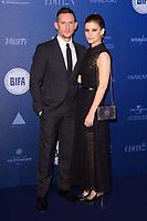 Jamie Bell and Kate Mara<br /> arriving for the British Independent Film Awards 2017 at Old Billingsgate, London<br /> <br /> <br /> ©Ash Knotek  D3359  10/12/2017