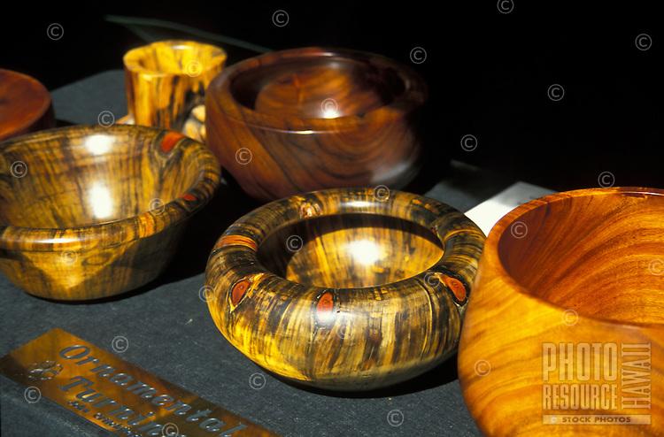 Hawaiian koa wooden bowls