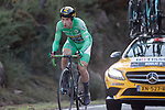 Green Jersey Primoz Roglic (SLO) Team Jumbo-Visma climbing towards stage victory and the General Classification lead during Stage 13 of the Vuelta Espana 2020 an individual time trial running 33.7km from Muros to Mirador de Ézaro. Dumbría, Spain. 3rd November 2020. <br /> Picture: Luis Angel Gomez/PhotoSportGomez | Cyclefile<br /> <br /> All photos usage must carry mandatory copyright credit (© Cyclefile | Luis Angel Gomez/PhotoSportGomez)