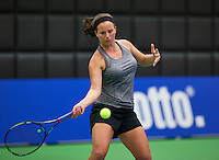 Rotterdam, Netherlands, December 17, 2015,  Topsport Centrum, Lotto NK Tennis, Nicolette van Uitert (NED)<br /> Photo: Tennisimages/Henk Koster