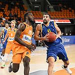 14.10.2020, ratiopharm arena, Neu-Ulm, GER, EuroCup, ratiopharm ulm vs Boulogne Metropolitans 92, <br /> im Bild Nat Diallo (Ulm, #29), Tomer Ginat (Boulogne, #41)<br /> <br /> Foto © nordphoto / Hafner